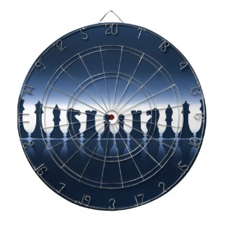 Chess Pieces Dartboard With Darts
