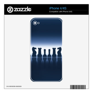 Chess Pieces Decal For iPhone 4