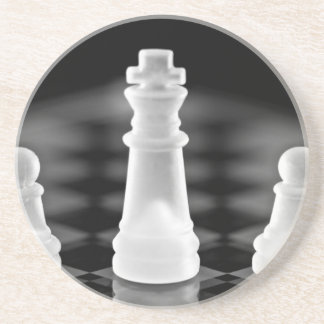 Chess pieces drink coaster