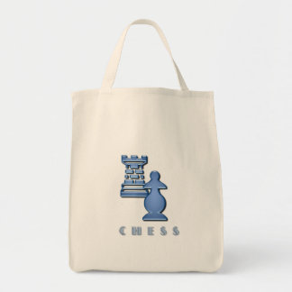 Chess Pieces Grocery Tote Bag