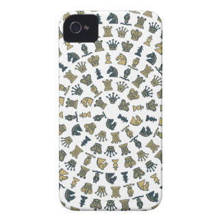 Chess Pieces in Circles iPhone 4 Case