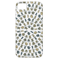 Chess Pieces in Circles iPhone 5 Case