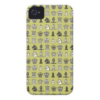 Chess Pieces in Rows Beige Blackberry Bold Case