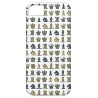 Chess Pieces in Rows White iPhone 5 Case