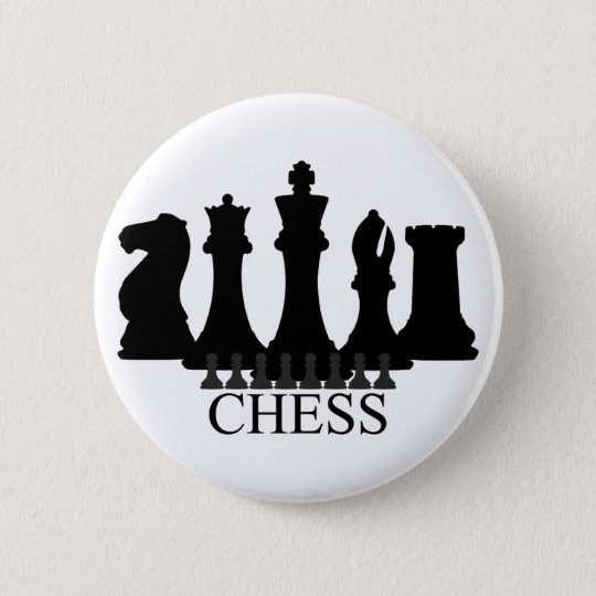 Chess Pieces Key Chain Pinback Button