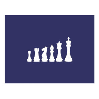 Chess Pieces Lined Up Postcard