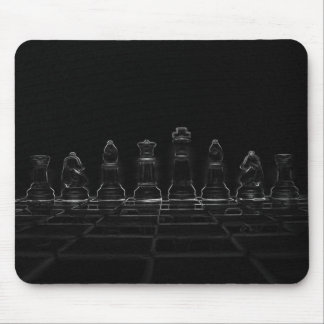 Chess pieces mouse pad