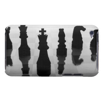 Chess pieces on chess board in black and white iPod touch cover