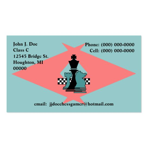 Chess Pieces Players Exchange Sh Boomerang pointer Business Card