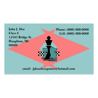 Chess Pieces Players Exchange Sh Boomerang pointer Business Cards