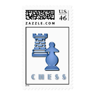 Chess Pieces Postage Stamp