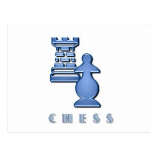 Chess Pieces Postcard