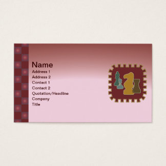 Chess Pieces Red Business Card
