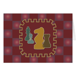 Chess Pieces Red Greeting Card