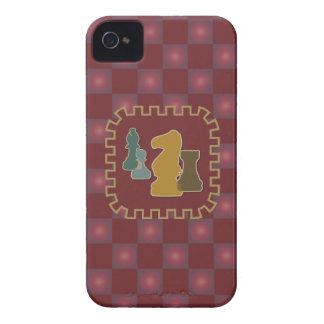 Chess Pieces Red iPhone 4 Case