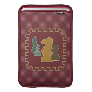 Chess Pieces Red MacBook Air Sleeve
