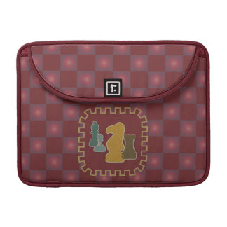 Chess Pieces Red MacBook Pro Sleeve