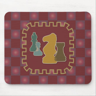 Chess Pieces Red Mousepad