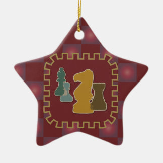 Chess Pieces Red Star Ornament
