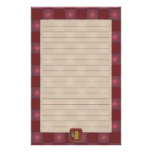 Chess Pieces Red Stationery
