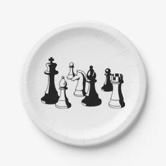 Chess Pieces Vintage Art #2 Paper Plate