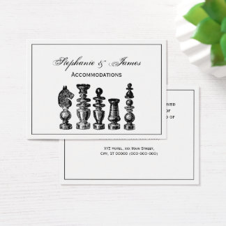 Chess Pieces Vintage Art Business Card
