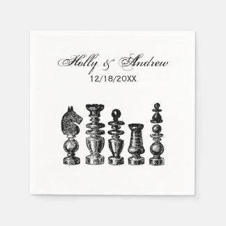 Chess Pieces Vintage Art Napkin