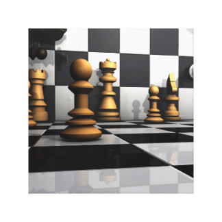 Chess Play King Canvas Print