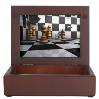 Chess Play King Keepsake Box