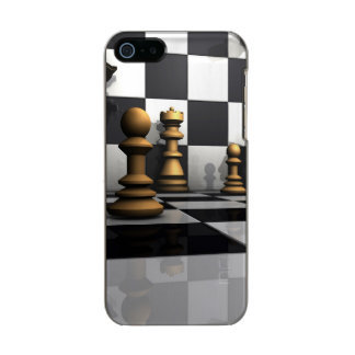 Chess Play King Metallic Phone Case For iPhone SE/5/5s