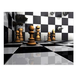 Chess Play King Postcard