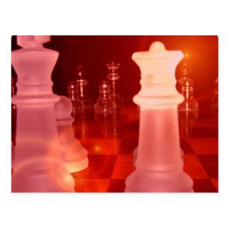 Chess Play Postcard