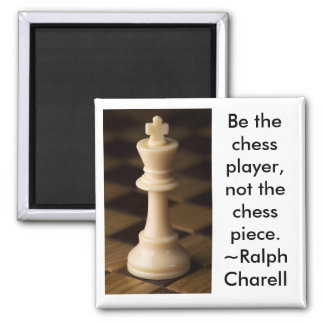 Chess Player 2 Inch Square Magnet
