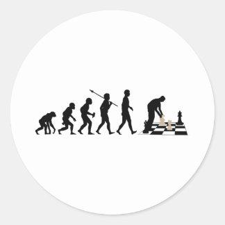 Chess Player Classic Round Sticker