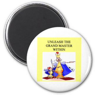 CHESS player grand master 2 Inch Round Magnet