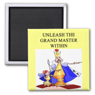CHESS player grand master 2 Inch Square Magnet