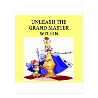 CHESS player grand master Postcard