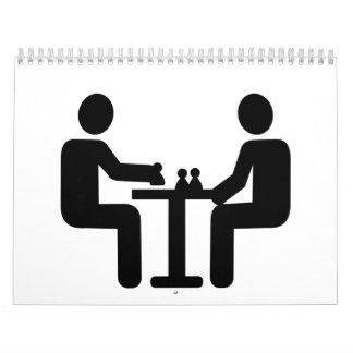 Chess player logo calendar