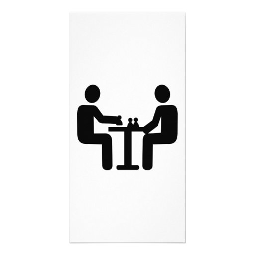 Chess player logo photo card template