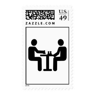 Chess player logo postage