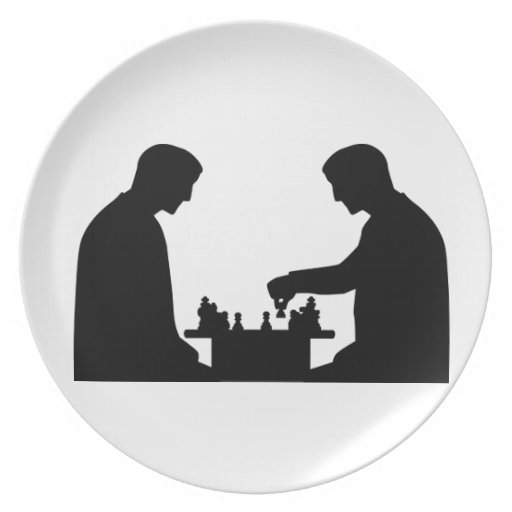 Chess player party plate