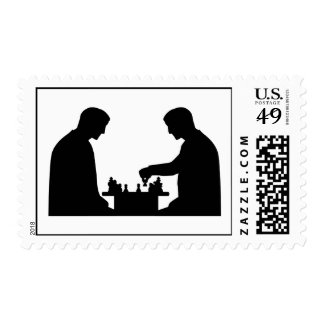 Chess player postage stamps