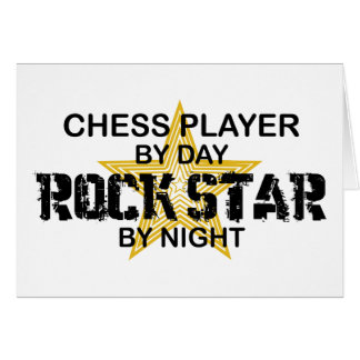 Chess Player Rock Star by Night Greeting Card