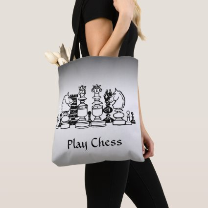 Chess Player Silver Tote Bag