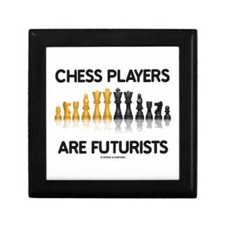 Chess Players Are Futurists (Reflective Chess Set) Jewelry Boxes