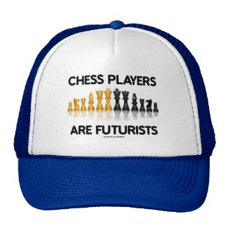 Chess Players Are Futurists (Reflective Chess Set) Mesh Hat
