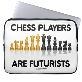 Chess Players Are Futurists (Reflective Chess Set) Laptop Computer Sleeve