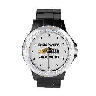 Chess Players Are Futurists (Reflective Chess Set) Wrist Watch