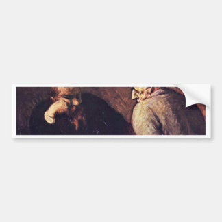 Chess Players By Daumier Honoré Car Bumper Sticker