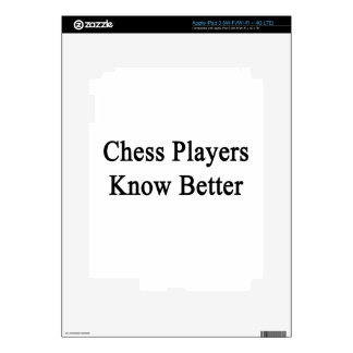 Chess Players Know Better Decals For iPad 3